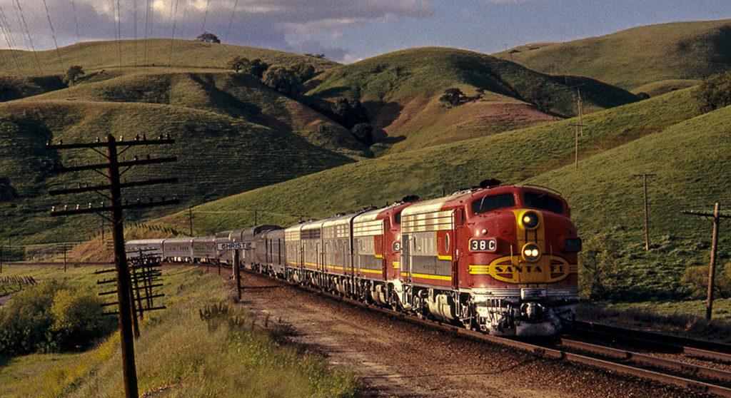Un treno delle ferrovie americane