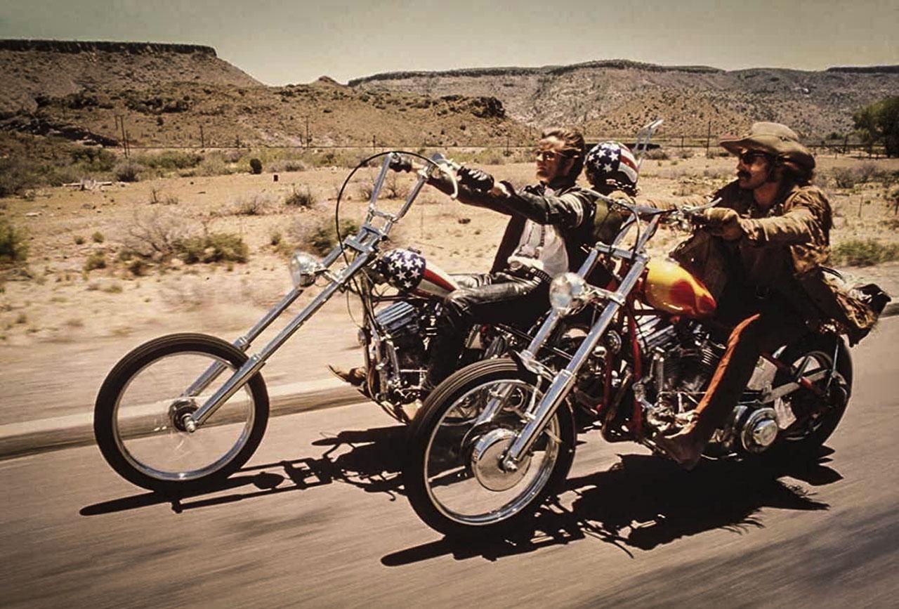 Il classico motociclista USA
