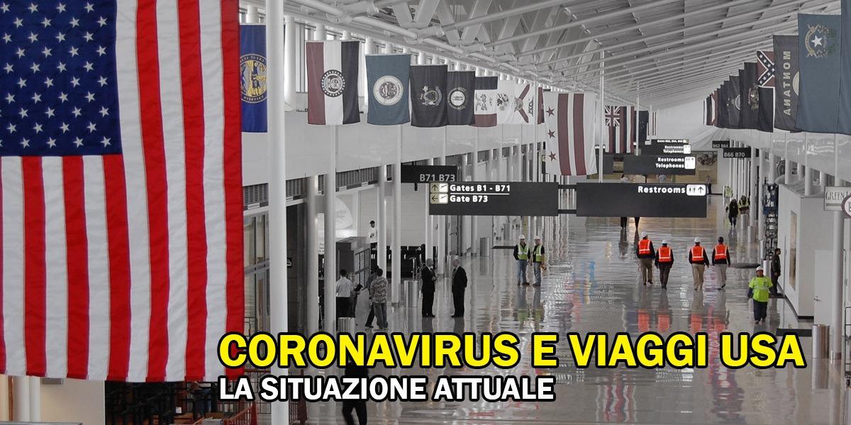 Coronavirus e viaggi negli Stati Uniti